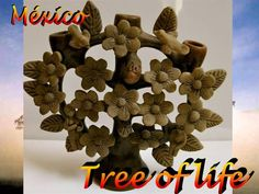 The tree of life is a popular form of art in Mexico. Shaped in the form of a tree, it is then crafted in great detail with figures such as people, branches, flowers, fruit, animals and other subject matter