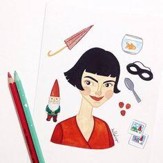 Conheça o mundo ilustrado de Luiza Alcântara: suas aquarelas, personalidades da…