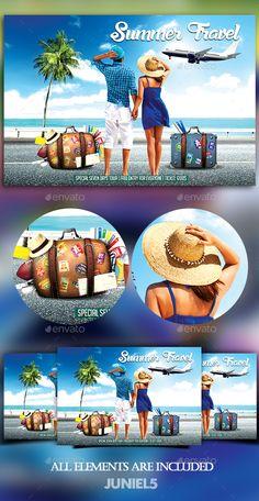 Summer Travel Flyer Design Template