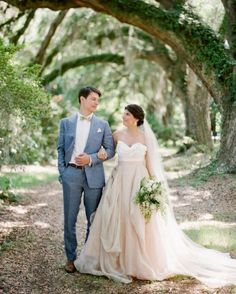 """See the """"The Bride and Groom"""" in our CJ and Adrien's French-Influenced Southern Wedding  gallery"""