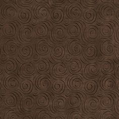 B305 Brown, Abstract Swirl Microfiber Upholstery Fabric By The Yard