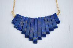 Lapis Lazuli  Lapis necklace Lapis jewelry Lapis by FlirtyFig