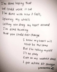 My Anthem~A little bit stronger~ Sara Evans ( Once this becomes your life it's so very liberating.)