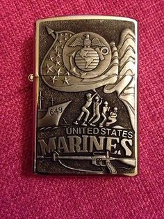 Zippo-USMC-Collectible-Lighter-Box-United-States-Marine-Corp-NEW