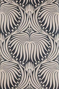 Lotus bp 2017 wallpaper patterns farrow & ball wall coverings in 2019 e Floral Print Wallpaper, Lotus Wallpaper, 2017 Wallpaper, Pattern Wallpaper, Floral Prints, Hall Wallpaper, Gray Wallpaper, Office Wallpaper, Feature Wallpaper