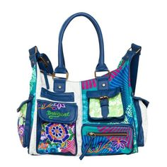 Desigual Bag Floreada Carry, Blue