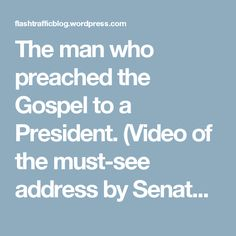 The man who preached the Gospel to a President. (Video of the must-see address by Senate Chaplain Barry Black at the National Prayer Breakfast.) « Joel C. Rosenberg's Blog