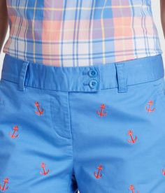 Anchor Embroidered Dayboat Shorts for Womens | Vineyard Vines
