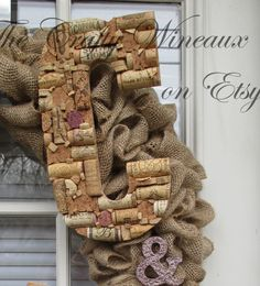 """Large Custom Handmade Artistic Wine Cork Letters or & Symbol for Wreath, Wall, or General Decor - 10.5"""" - pinned by pin4etsy.com"""