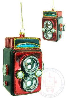 Buy Box Camera Ornament Retro Red at TinToyArcade.com