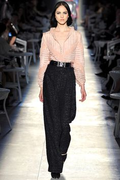 I guess wide leg pants are back...Spring Collection from Chanel.