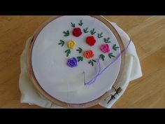 Hand Embroidery: Bullion Knot Stitch - YouTube
