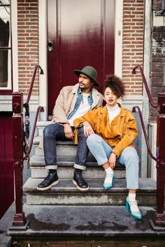 coupleshoot Amsterdam loveshoot streetfashion couple editorial streetwear fashion prada
