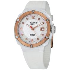 Alpina Women's 'Extreme' White Ceramic White Rubber Strap Watch | Overstock.com