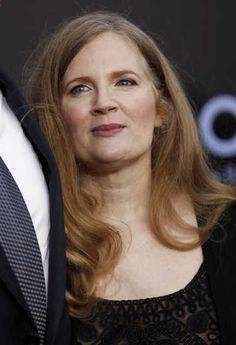 """(Queen) Suzanne Collins arrives at the world premiere of """"The Hunger Games"""" on Monday March 12, 2012 in Los Angeles."""