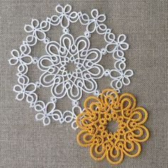 doilies and something Shuttle Tatting Patterns, Needle Tatting Patterns, Knitting Patterns, Crochet Patterns, Tatting Jewelry, Tatting Lace, Doilies, Tatting Tutorial, Thread Art
