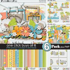 School's out and its time to head to the beach and this new digital scrap kit, To the Beach, by Jen Yurko can help you scrap all of your fun in the sun  photos. https://www.pickleberrypop.com/shop/product.php?productid=44434&page=1