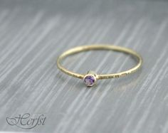 ONE tiny delicate 14K solid Yellow White or Rose Gold