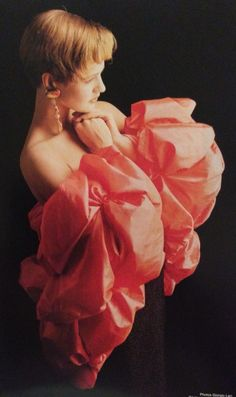 Yves Saint Laurent Haute Couture- A/W 1987-88 Black beaded strapless dress under a satin bolero. L'Officiel No. 734- September 1987