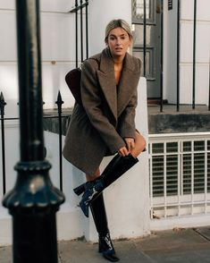 Art_second_maria January 08 2020 at fashion-inspo Casual Fall Outfits, Winter Outfits, Looks Style, My Style, Camille Charriere, Look Blazer, Streetwear, Winter Stil, Inspiration Mode