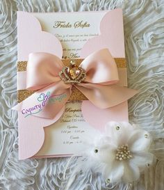 This is a really beautiful princess invitation, ideal for your next important day. The invitation co Quince Invitations, Princess Invitations, Pink Invitations, Invitation Cards, Wedding Invitations, Invitations Quinceanera, Quinceanera Planning, Quinceanera Decorations, Quinceanera Party