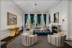 Upper East Side, New York - $42,500,000 extremely over the top glam of a house. Honestly, I don't even know that if I could afford it I'd want to live in it just because it's not very home-y. However, it is so fun to look at!!