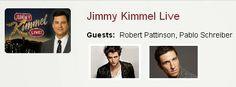 Eclipse Vem Aí: ROBERT VAI ESTAR PRESENTE NO SHOW DE JIMMY KIMMEL ...