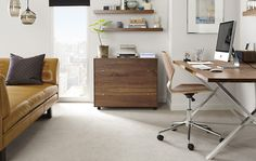 Note wall shelving & storage combined look. Office - Room & Board