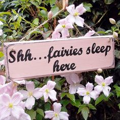 personalised wood fairy sign by potting shed designs | notonthehighstreet.com