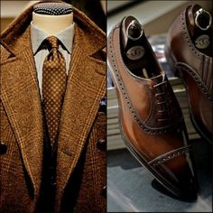 Autumn is upon us, gentlemen. Don't be afraid to stock up on colors that go with the season--brown, bronze, gold, dark orange. These colors add sophistication and an extra touch of masculinity to your look. Your lady will enjoy it, too. Follow my board for more tips on men's fashion. -- I.H.