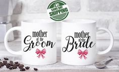 wedding gifts for parents, wedding gift parents, parents of the bride gift, parents of the groom gift, parents gift, parents wedding gifts  This cute design will be printed on best quality Grade A fully white Mugs or Mugs with black handle. If you prefer, we can print design on one side and special message on the other side. Kindly specify in order notes. We use dye sublimation and heat transfer technique to print the design on the mugs. This ensures that the design and the words will look…