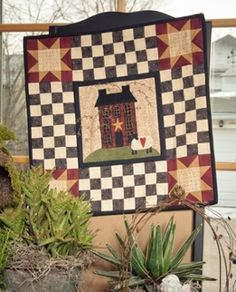 Vintage Charm Embroidered Quilted Bedspread Bedding Primitive Home Quilt Kit - Pattern found in Little Quilts in the Coop ...
