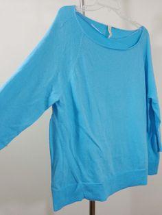 Yansi Fugel sweater lagenlook top artsy art to wear turquoise imperial boxy OS #YansiFugel #BoatNeck