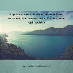 Meditation = happiness
