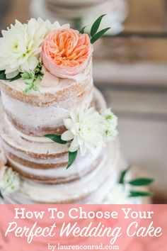 Choosing your perfect wedding cake should be both tasty and fun!