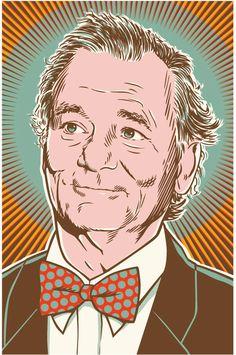 Bill Murray  Pop Art Poster Print by RedRobotCreative on Etsy