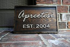 """9""""x15"""" Custom Family Carved Wood Sign with Painted Details - Personalized - Established Date - Last Name Sign on Etsy, Sold"""