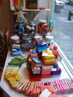 shop window- a way to display our Sweet Amelie frock fabrics?