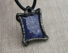 men necklace men pendant lapis lazuli by Blacksmithworkshop, #mennecklace, #menpendant