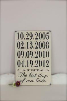 Important Dates Sign
