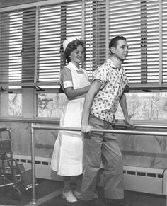 Simmons Nursing student at Lemuel Shattuck Hospital, 1961