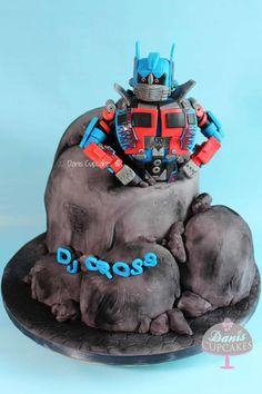 Transformers Optimus Prime Cake  - Cake by Danis Cupcakes
