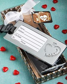 Destination Love Collection heart design  luggage tags. http://www.bluerainbowdesign.com/WeddingFavorProduct.aspx?ProductID=PR090510174999KelowSXimenaBRD96822=WEDDI=GROUP=WLUGG=pinterest