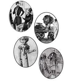 Вариант использования овалов. В овалы можно помещать картинки, которые как-либо рассказывают о содержимом определенной экспозиции.