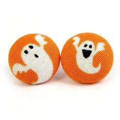 Ohrstecker - Und alle Geister so: Yeaah! Halloween Ohrstecker - ein Designerstück von innerland bei DaWanda