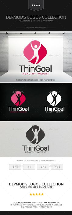 Thin Goal Logo — Transparent PNG #gym #club • Available here → https://graphicriver.net/item/thin-goal-logo/9079372?ref=pxcr