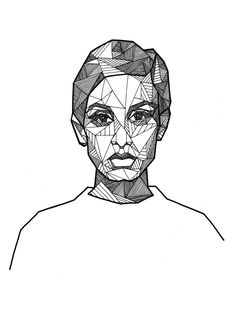 Geometric Portraits - Ink by Allison Kunath, via Behance
