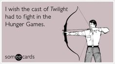 Hunger Games vs. Twilight... who would the other tributes be though?