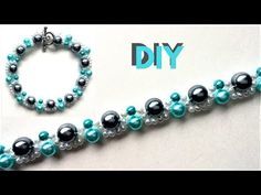 How to make a pearl bracelet. Use different colors of pearls and make an elegant pearl bracelet Beaded Wedding Jewelry, Beaded Jewelry Designs, Jewelry Patterns, Bracelet Patterns, Diy Jewelry, Jewelry Making, Bead Jewellery, Beaded Bracelets Tutorial, Woven Bracelets
