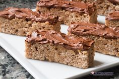 Transform your marshmallow cereal treat into something CEREAL-iously Delicious! Marshmallow Cereal, Cinnamon Cereal, Cereal Treats, Thing 1, Chocolate Frosting, Churros, Dessert Recipes, Desserts, Desert Recipes